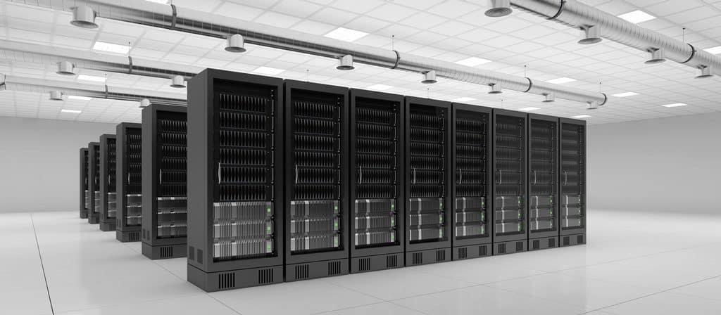 Rechenzentrum mit Server für Cloud Computing