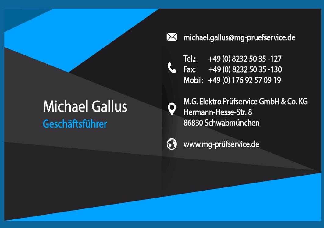Visitenkarte Michael Gallus